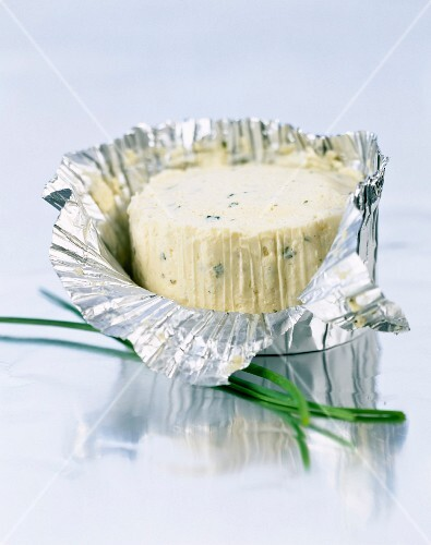 Boursin,fresh cheese with garlic and chives