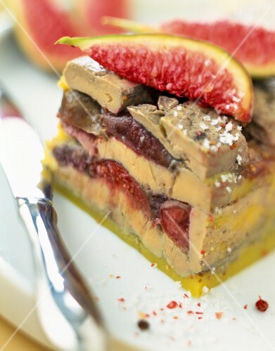 Foie gras and fig terrine