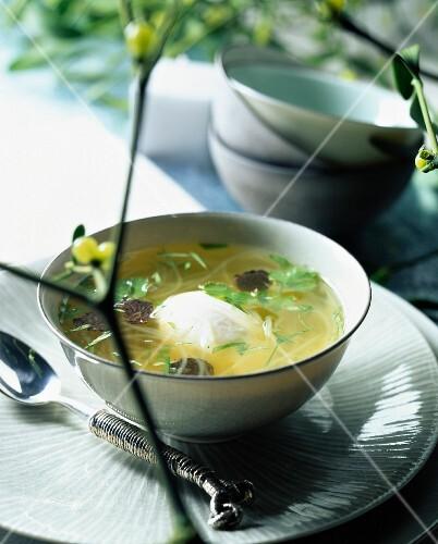 Vermicelli and tofu broth