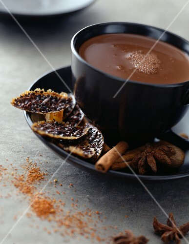Iced chocolate with spices