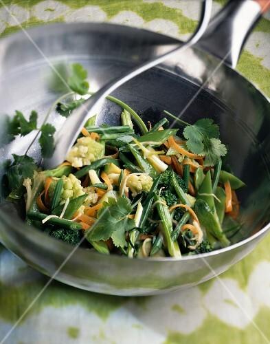 pan-fried green vegetables