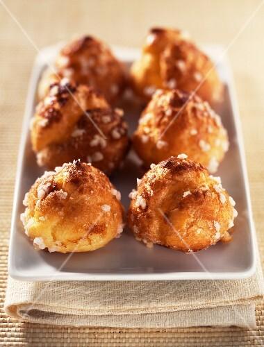 Chouquette sugar coated chou buns