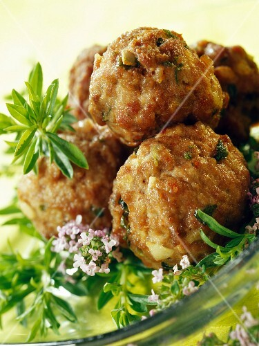 lamb and wild herbs meatballs
