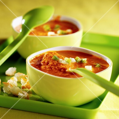Bowls of gaspacho
