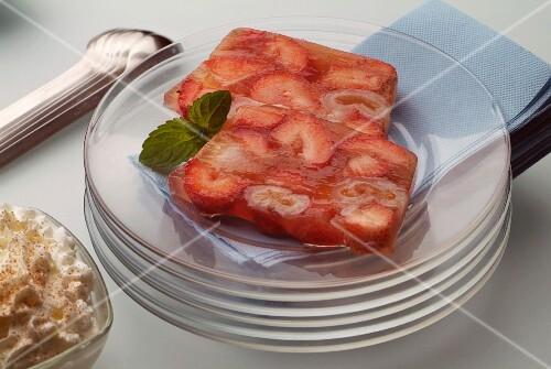 Strawberry terrine