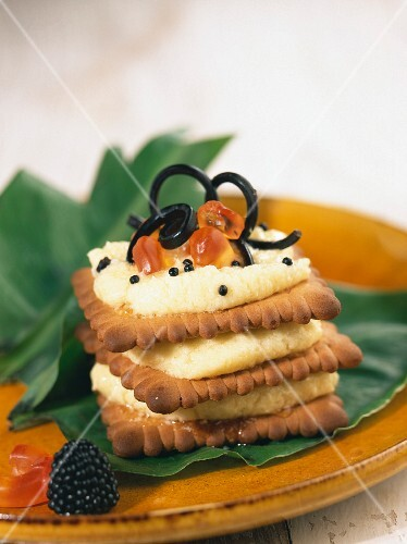 A Halloween layer cake with spices
