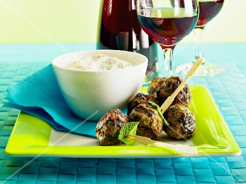 Beef meatballs with mint