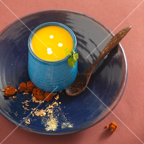 Orange soup with spices