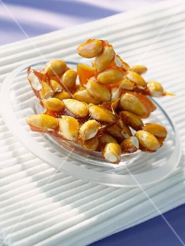 Caramel almonds