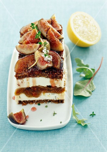 Goat's cheese terrine with figs