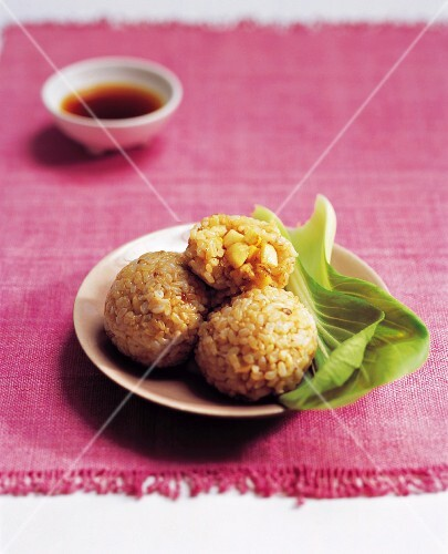 Brown Rice Balls with Walnuts