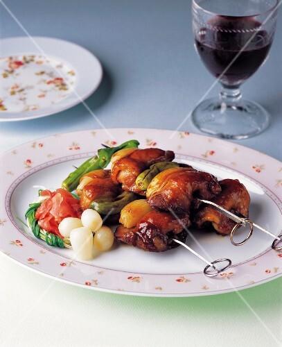 Brochette of Seasoned Chicken