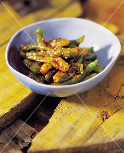 Steamed Green Chili Peppers