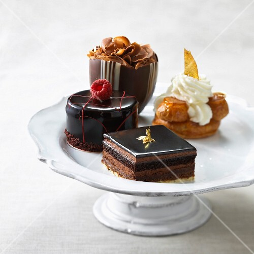Mini cakes on a cake stand