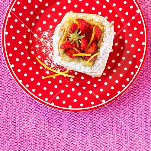 Chivalry and rhubarb tartlet