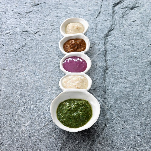 Various Middle Age sauces