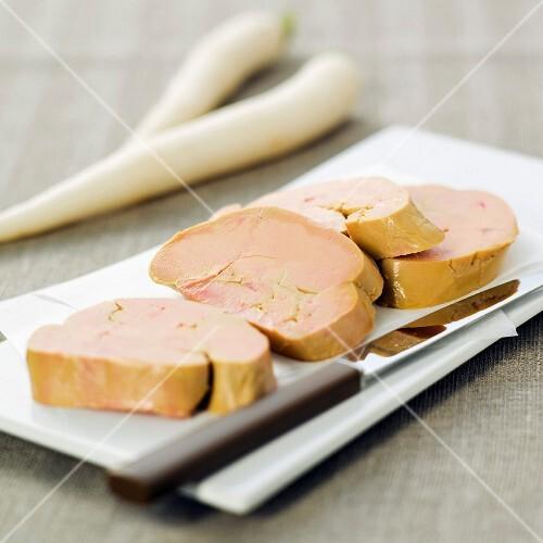 Foie gras slices