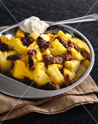 Fruit salad with pineapple and mango