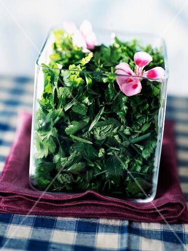 Very fresh fine herb salad