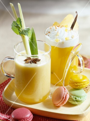 Mango Cappuccino and Island coconut cocktail