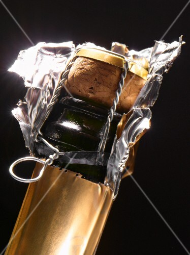 Neck of a champagne bottle