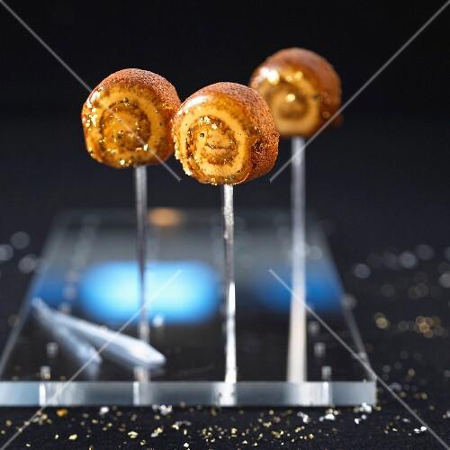 Foie gras lollypops