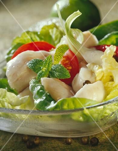 Tahitian-style raw fish salad