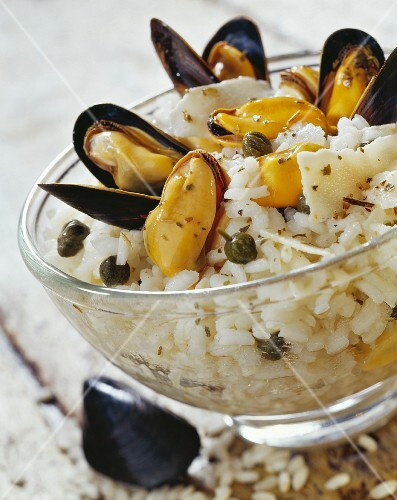 Mussel and parmesan risotto
