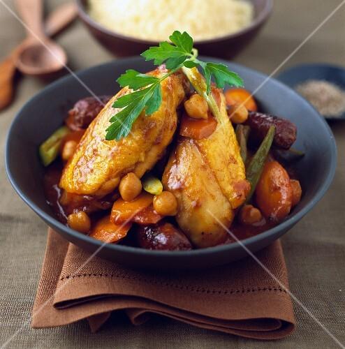 Chicken and Merguez Couscous