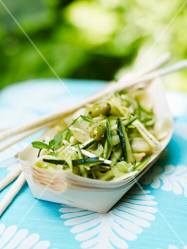 Greens and pasta salad