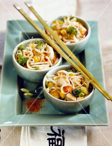 Chineese soup with chicken fillet
