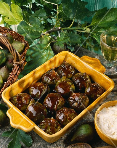 Caramelized figs