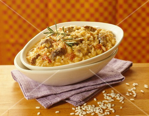 Risotto with lamb