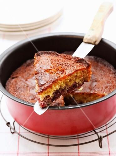 Cherry and honey cake
