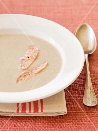 Chesrtnut soup with foie gras