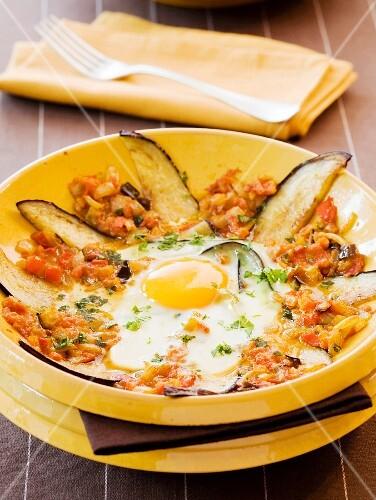Eggplant Tajine with egg