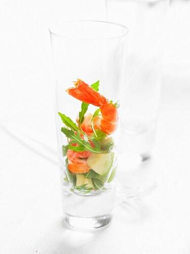 Prawn salad in a glass