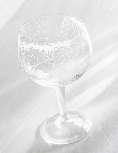 Remains of mousse in a glass