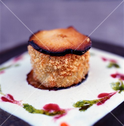 Crumble-style baked apple