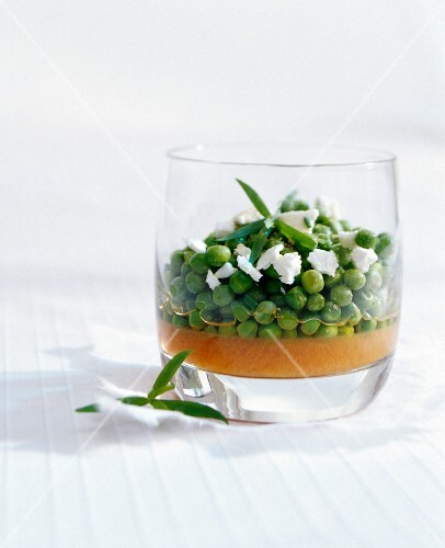 Carrot jelly with peas