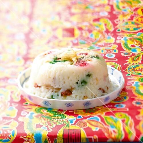 Crystallized fruit rice pudding