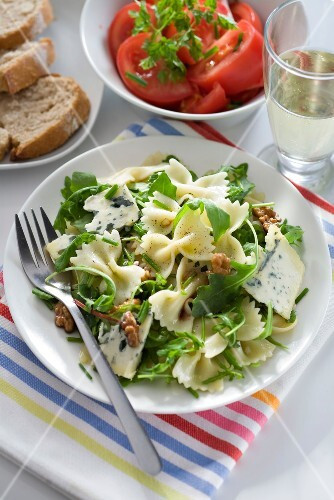 Farfalle,roquefort ,rocket and walnut salad