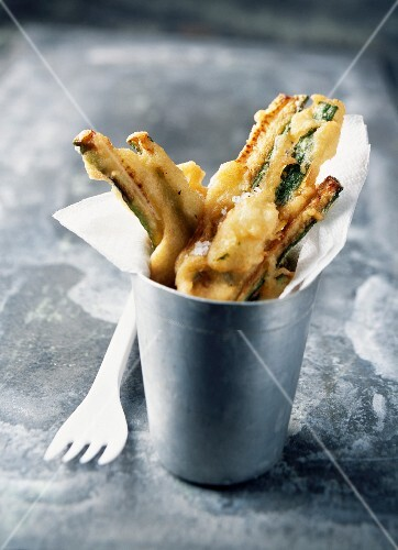 Tempura-style zucchini fritters
