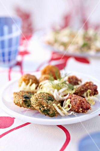 Different-flavored quinoa bites