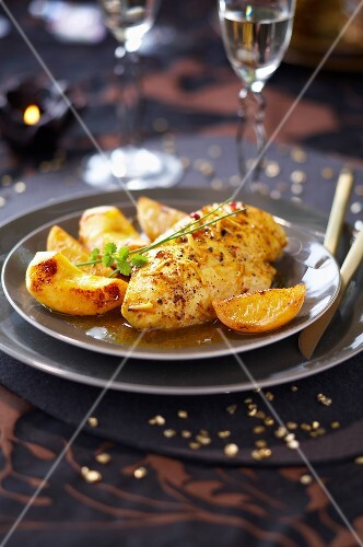 Capon breast with ginger and lemon