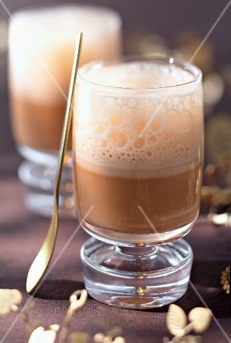 Foamy hot chocolate