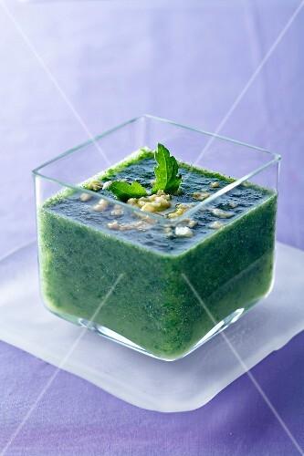Stimulating dandelion soup