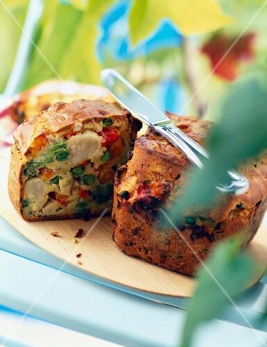 Vegetable savoury cake