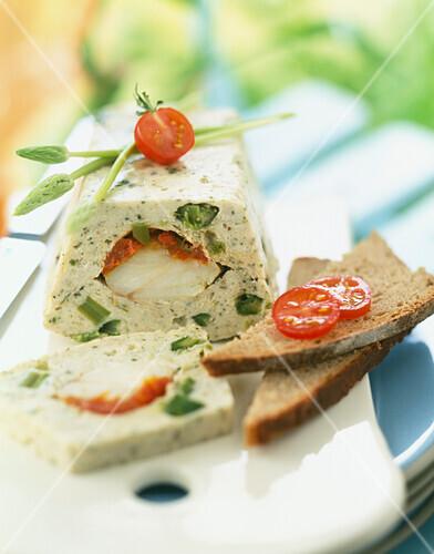 Monkfish and vegetable terrine