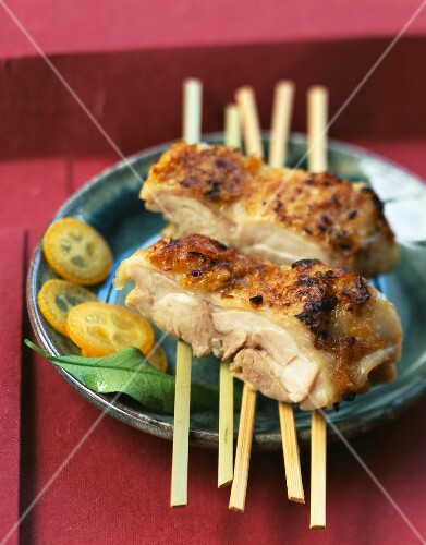 Boned chicken leg grilled with mustard